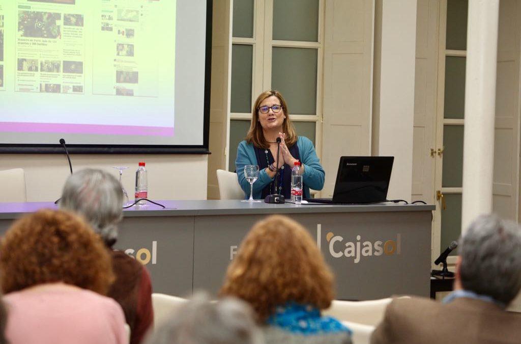 Carmela Ríos analiza las redes sociales en una nueva sesión de 'Los coloquios de EL MUNDO que viene..' desde la Fundación Cajasol