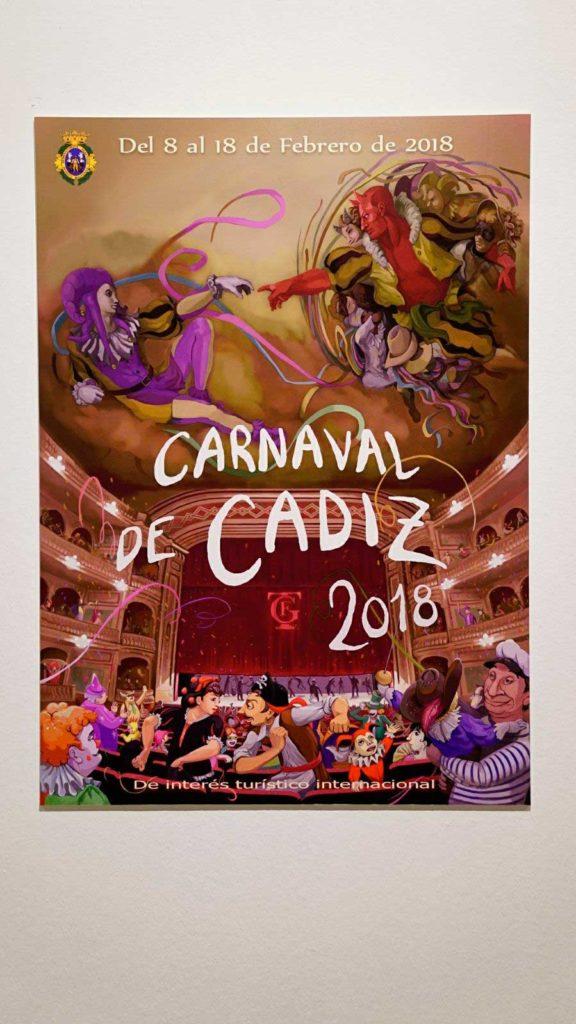 Cartel anunciador del Carnaval de Cádiz 2018, 'El comienzo del Carnaval'