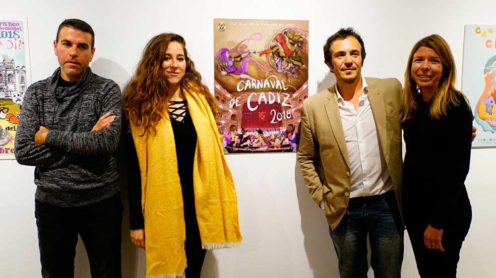 'El comienzo del Carnaval', obra ganadora para anunciar el Carnaval de Cádiz 2018