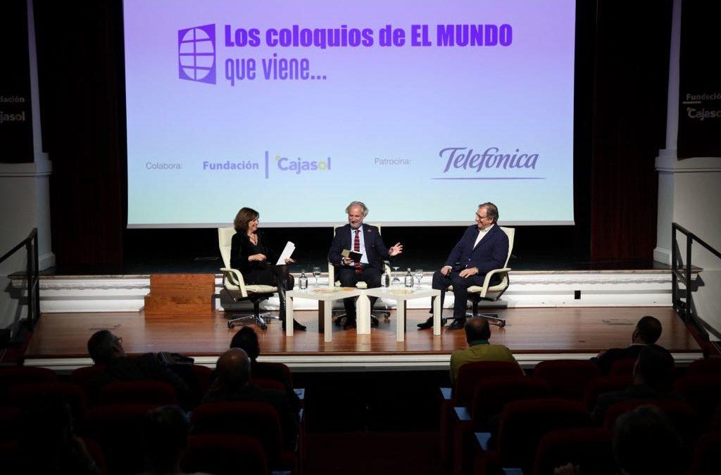 Francisco Lobatón y Emelina Fernández analizan cómo informar sobre desapariciones en 'Los coloquios de EL MUNDO que viene…' desde la Fundación Cajasol