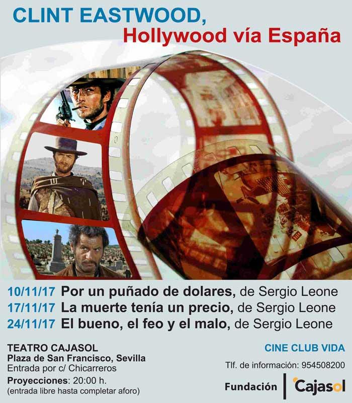 Cartel del ciclo de cine dedicado a Clint Eastwood en la Fundación Cajasol