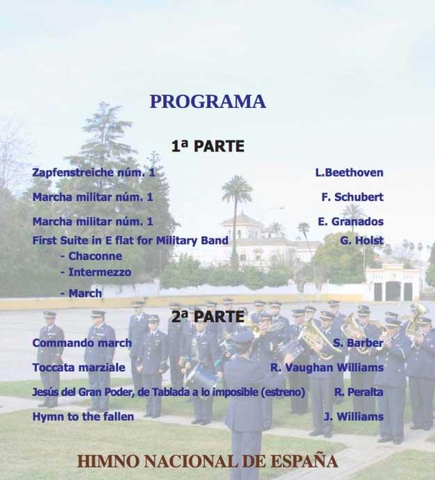 Programa del concierto de Santa Cecilia 2017 en la Fundación Cajasol