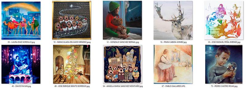 Obras finalistas del II Concurso para ilustrar el cartel de 'Los Gozos de Diciembre 2017' de la Fundación Cajasol