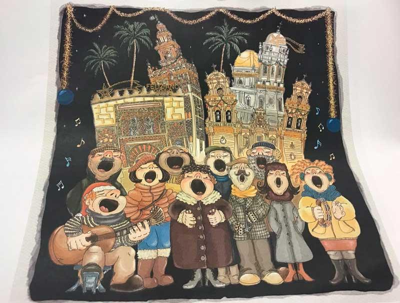 La obra 'Notas de Navidad', de Ángela María Sánchez Montaño, ilustrará 'Los Gozos de Diciembre' de la Fundación Cajasol