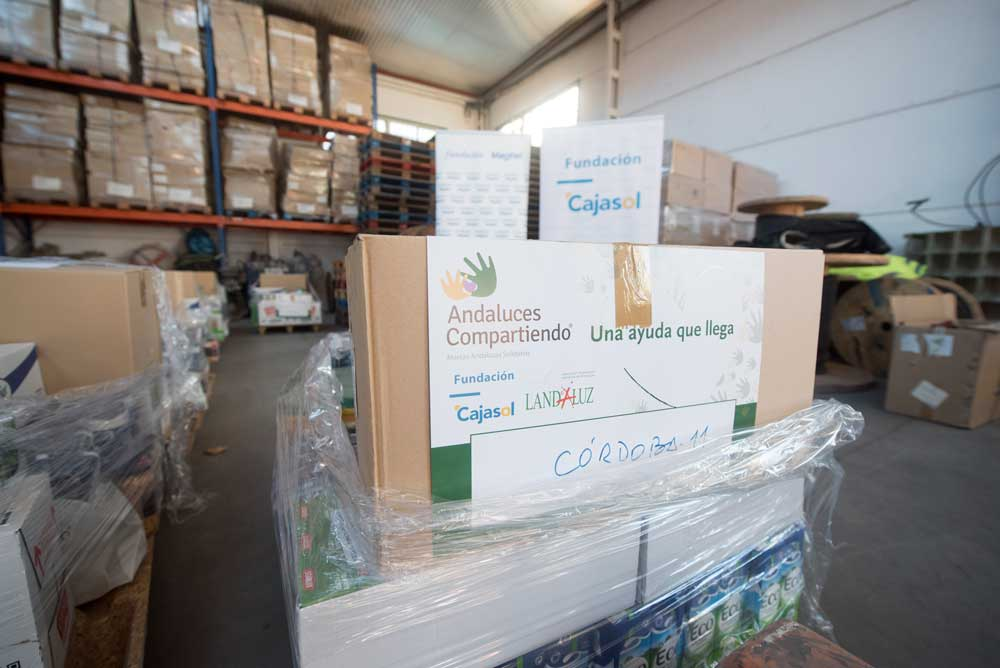 'Andaluces Compartiendo' dona alimentos a trece asociaciones en Córdoba