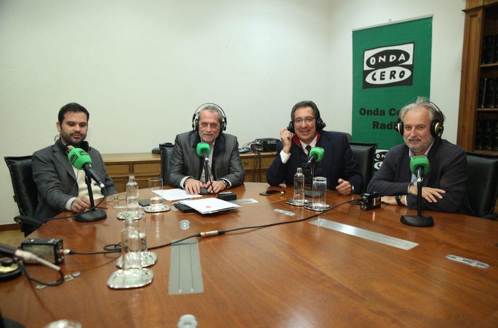 """Antonio Pulido, en Onda Cero: """"En estos momentos estamos muy implicados en la formación y el emprendimiento. Hay que ayudar a crear riqueza en Andalucía"""""""