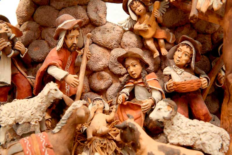 Una de las imágenes que aparecen en la exposición 'Belenes del Mundo' en la Fundación Cajasol