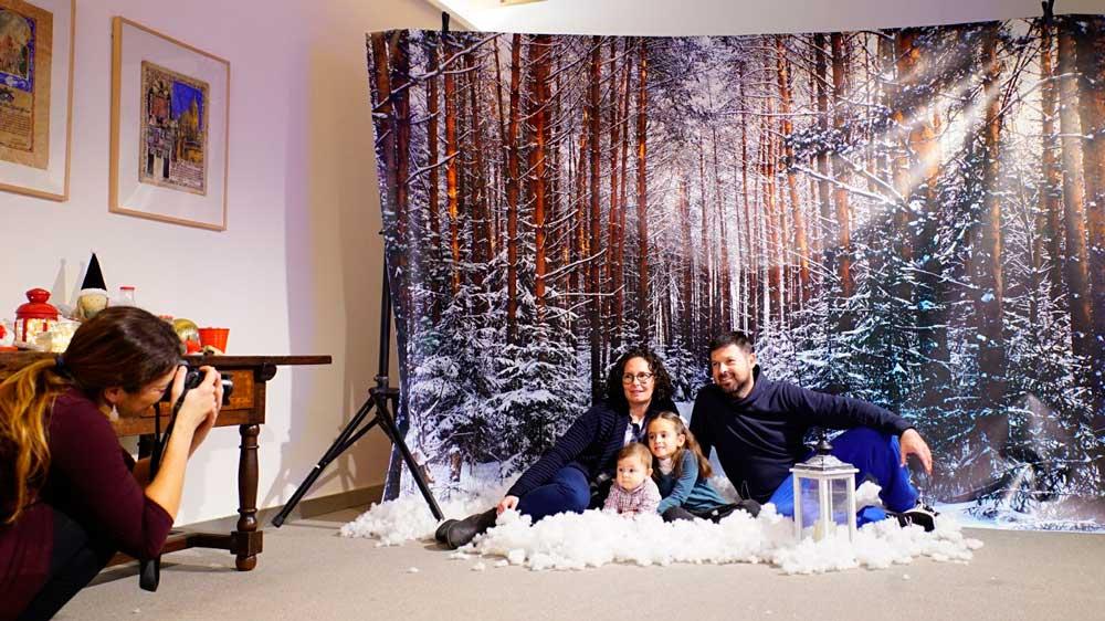 Making of de la felicitación navideña en familia desde la sede de la Fundación Cajasol en Cádiz