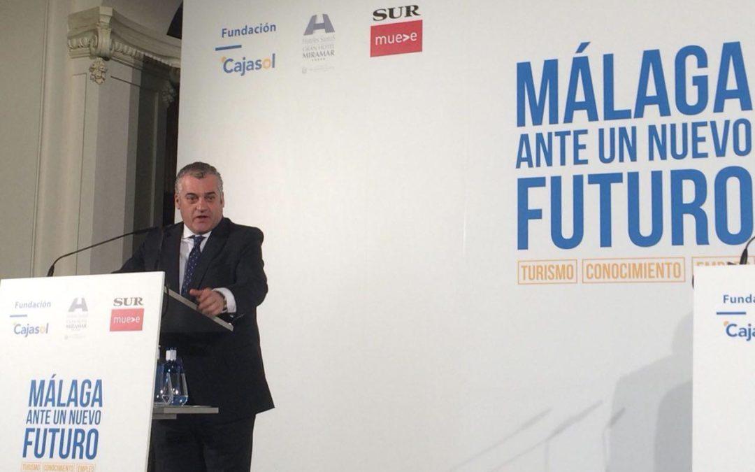 Javier Carnero, consejero de Empleo, Empresa y Comercio, en 'Málaga ante un nuevo futuro'