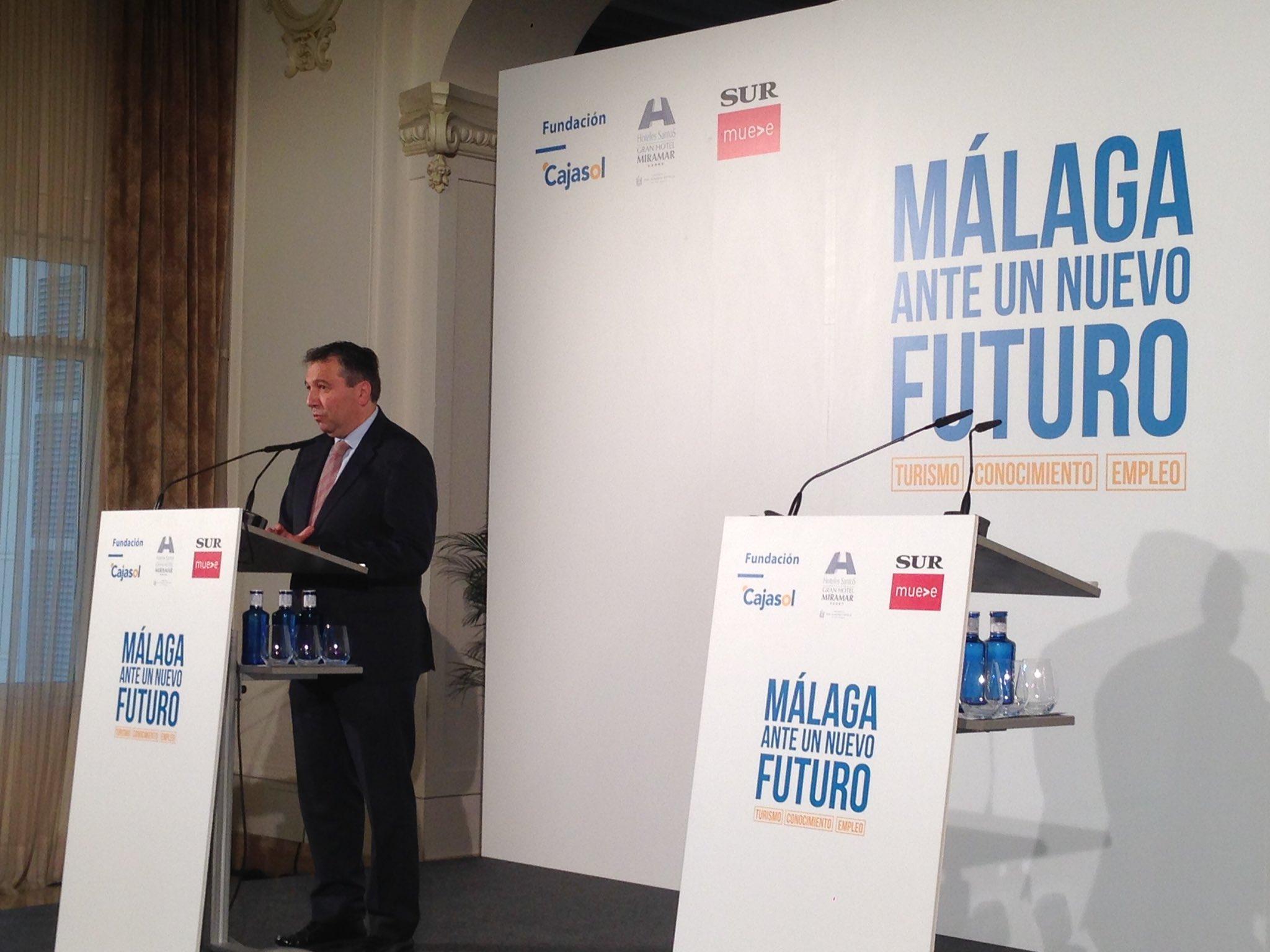 Javier Blanco, en el encuentro 'Málaga ante un nuevo futuro'