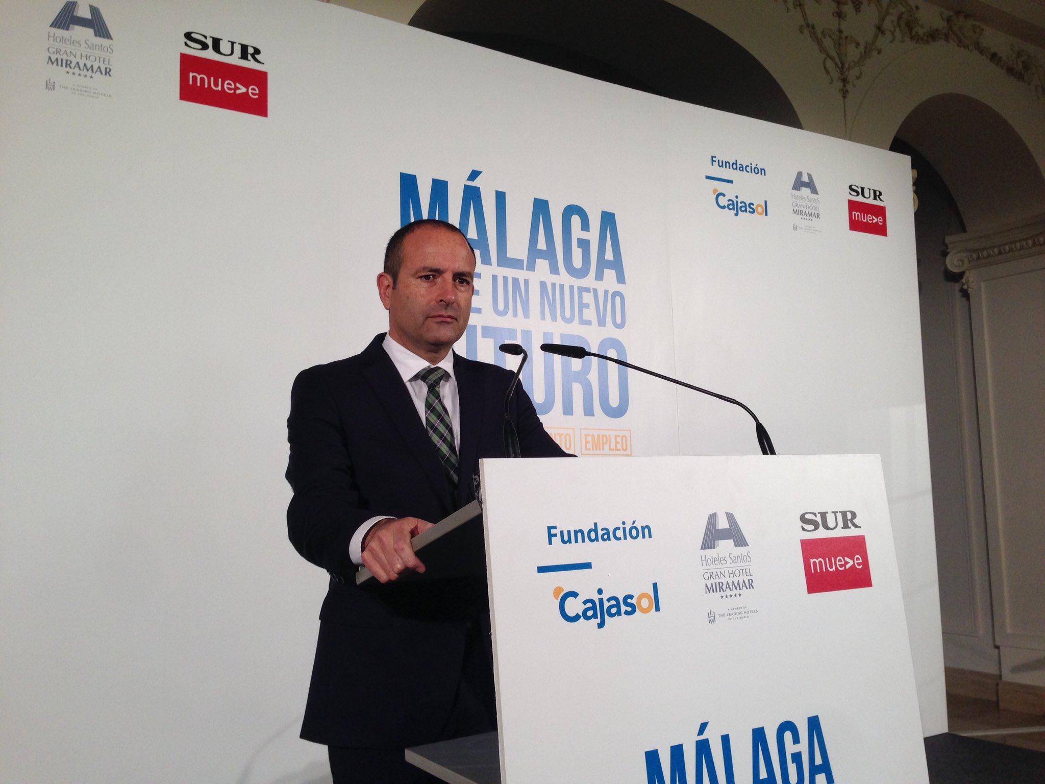 Manuel Castillo, director del Diario Sur,  en 'Málaga ante un nuevo futuro'
