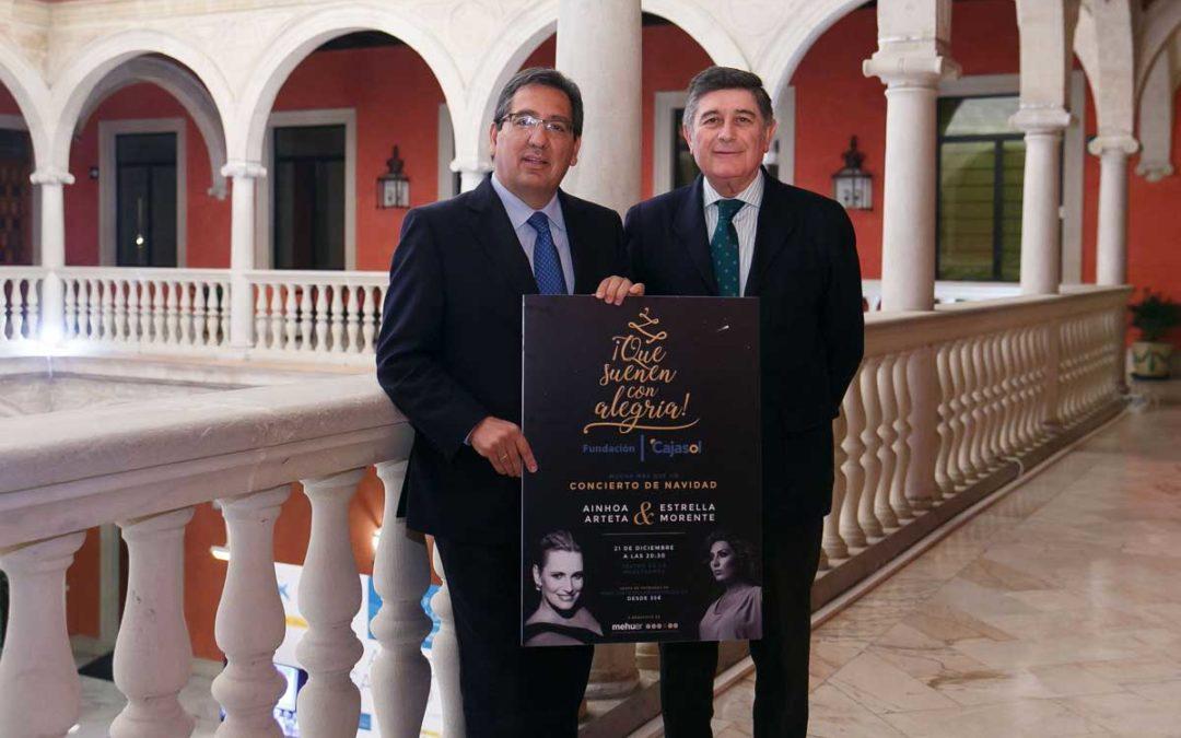 La Fundación Cajasol entrega a la Fundación MEHUER la recaudación del concierto '¡Que suenen con alegría!' en Sevilla