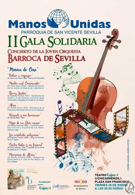 Compra tu entrada para la II Gala Solidaria de Manos Unidas Sevilla en la Fundación Cajasol