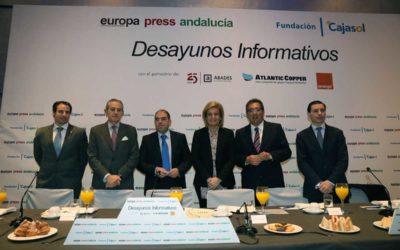 Lorenzo Amor, en los Desayunos Informativos de Europa Press desde Málaga