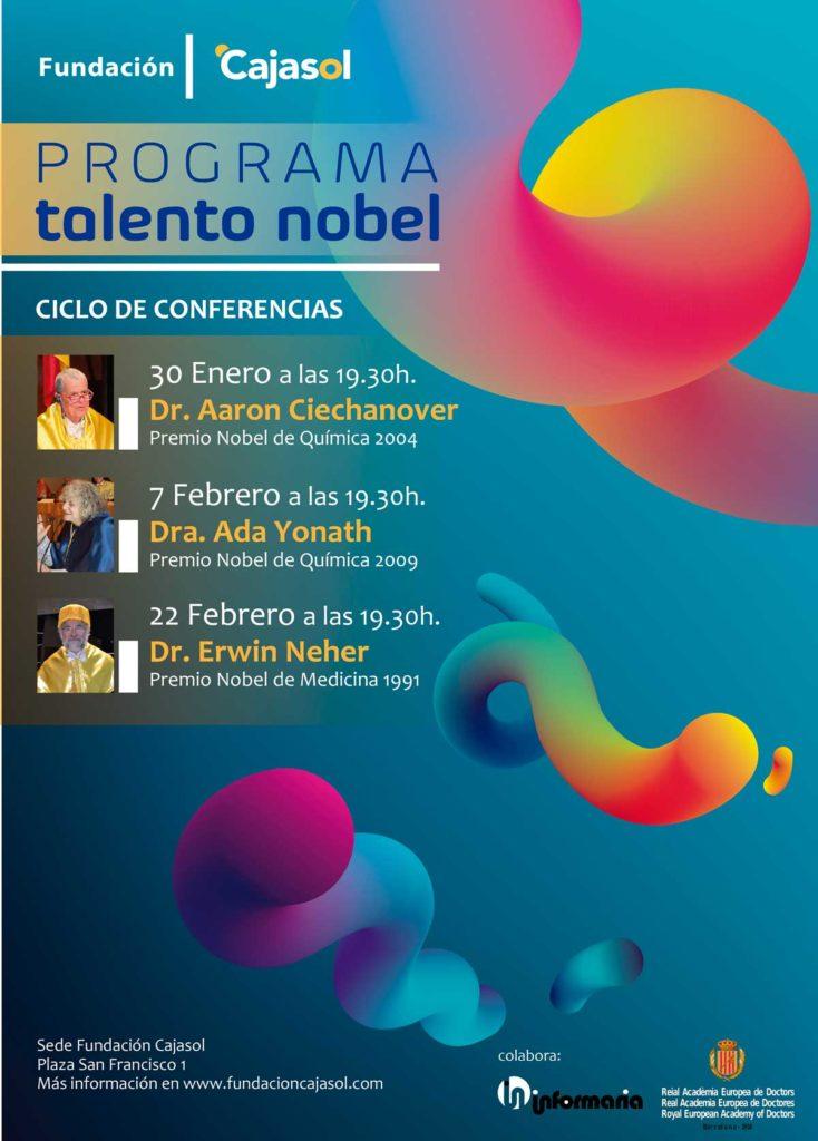 Cartel del Programa Talento Nobel 2018 en la Fundación Cajasol