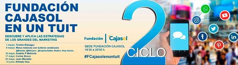 El II Ciclo Fundacion Cajasol en un Tuit arranca en marzo