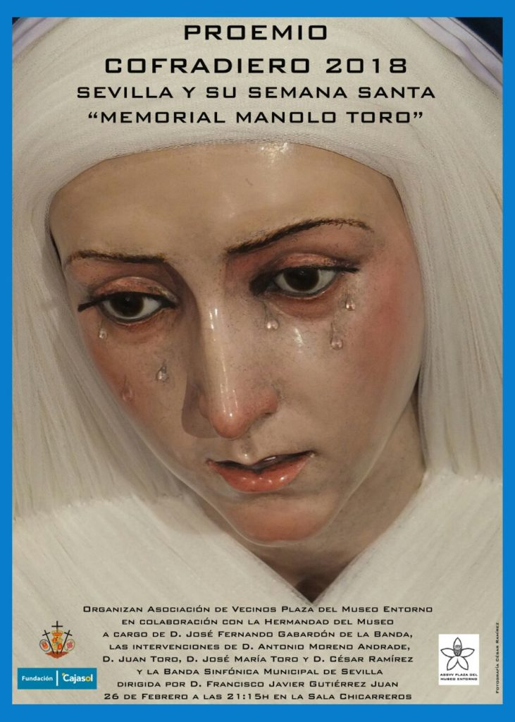 Cartel del Proemio Cofradiero 2018 de la Hermandad del Museo de Sevilla