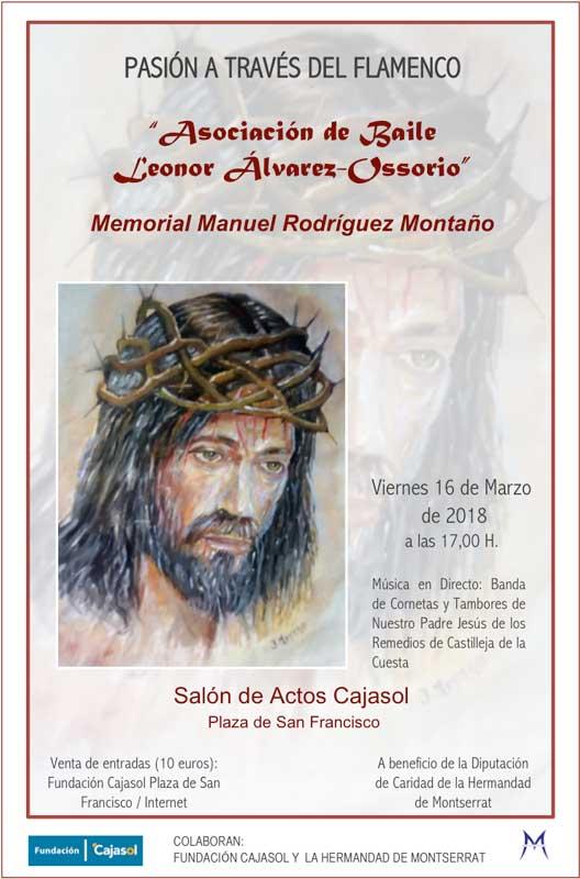 Cartel de la actuación 'Pasión a través del Flamenco' 2018 en la Fundación Cajasol