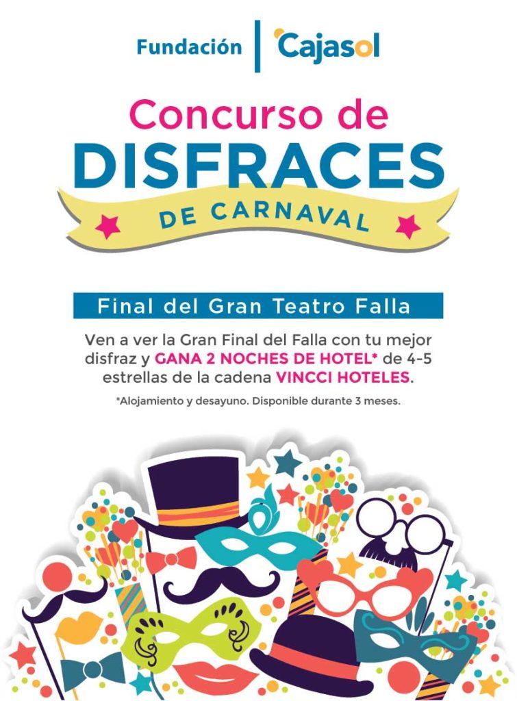 Cartel del concurso de disfraces en la Gran Final del Carnaval de Cádiz 2018