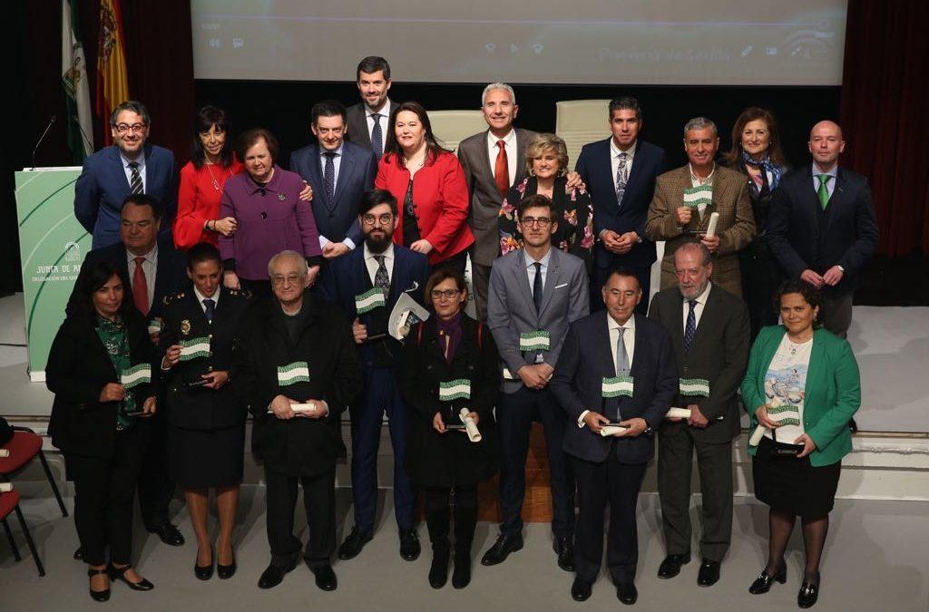 Entrega de las Banderas de Andalucía de Sevilla 2018 en la Fundación Cajasol