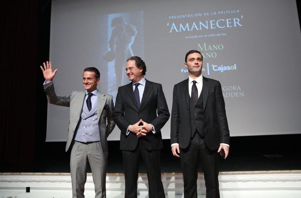 El ciclo de los 'Mano a Mano' de la Fundación Cajasol acoge el estreno mundial del cortometraje 'Amanecer'