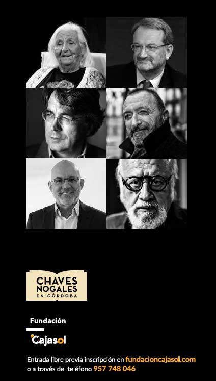 Cartel con ponentes en la jornada 'Chaves Nogales en Córdoba'