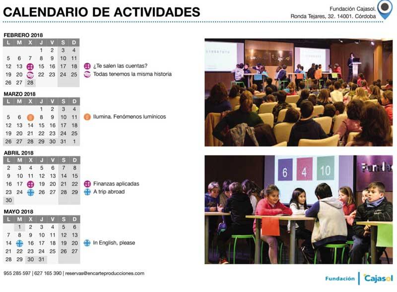 Programa educativo 2018 de la Fundación Cajasol en Córdoba