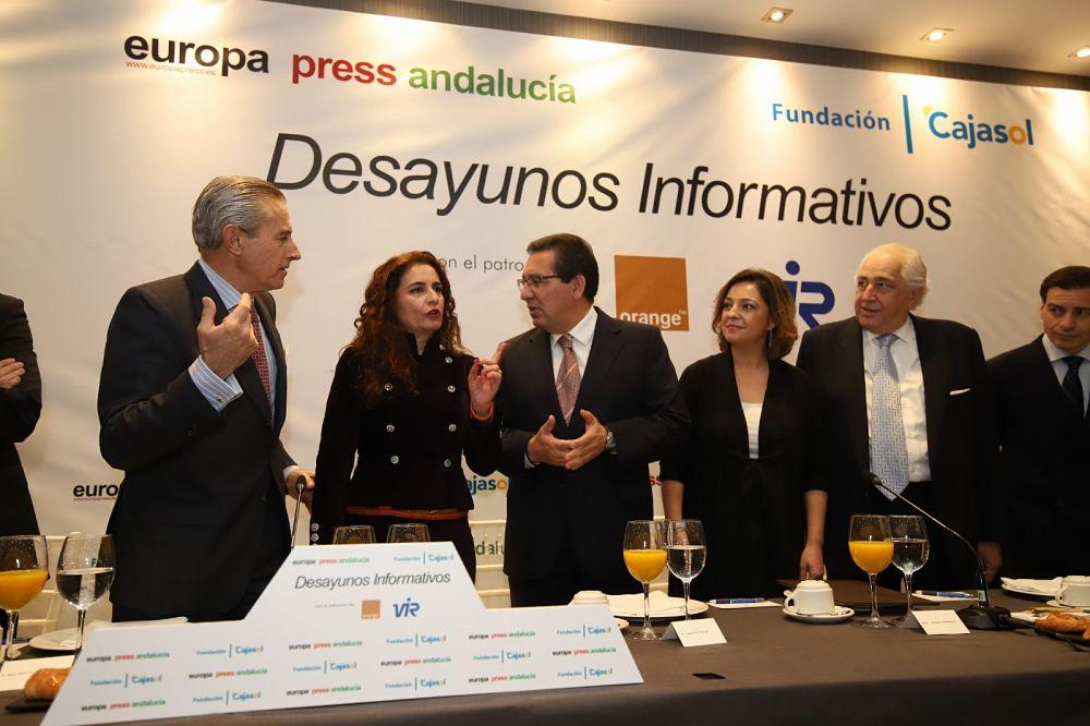 María Jesús Montero, en los Desayunos Informativos de Europa Press en Córdoba