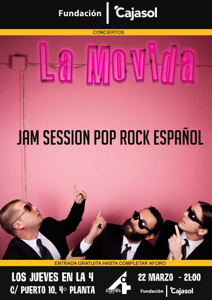 Cartel de la Jam Session en el ciclo Los Jueves en la Cuarta de la Fundación Cajasol en Huelva