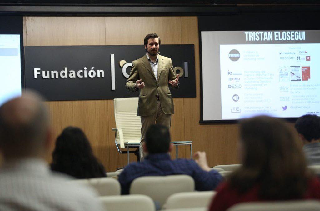 Tristán Elósegui en el II ciclo 'Fundación Cajasol en un Tuit'