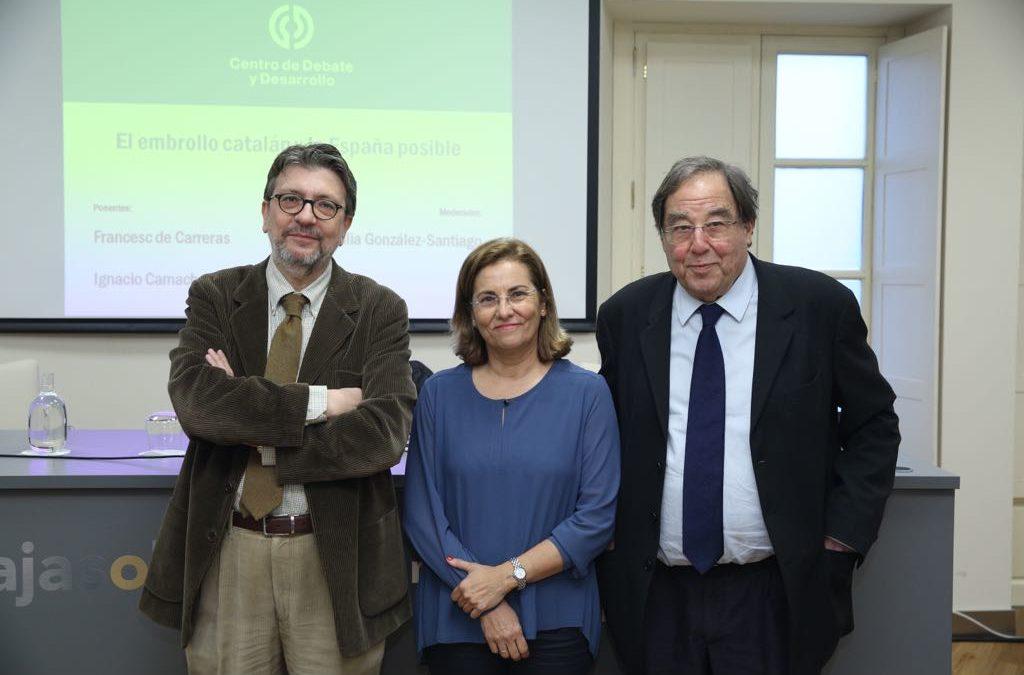 Jornada final del ciclo sobre Cataluña del Centro de Debate y Desarrollo