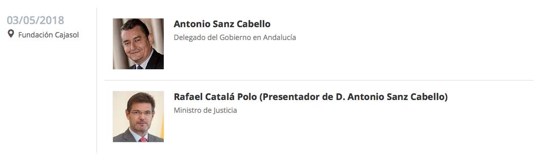 Anuncio del Desayuno Informativo de Europa Press Andalucía con Antonio Sanz