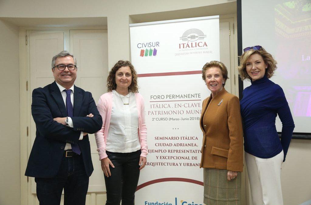 Conferencia de Pilar León en el Seminario sobre Itálica en la Fundación Cajasol
