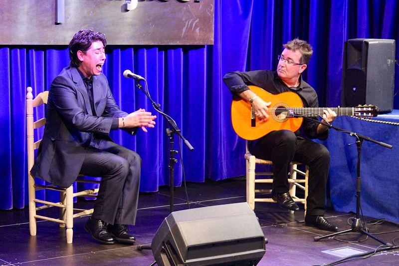Joaquín de Sola y Víctor Rosa, en el ciclo 'Generación Flamenco' de la Fundación Cajasol en Huelva