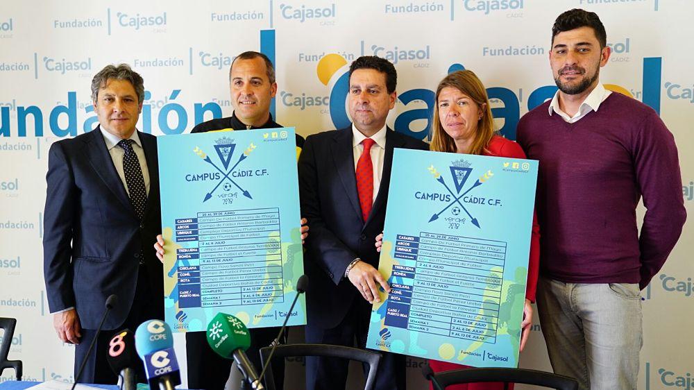 Presentación del Campus de Verano del Cádiz CF 2018 en la Fundación Cajasol