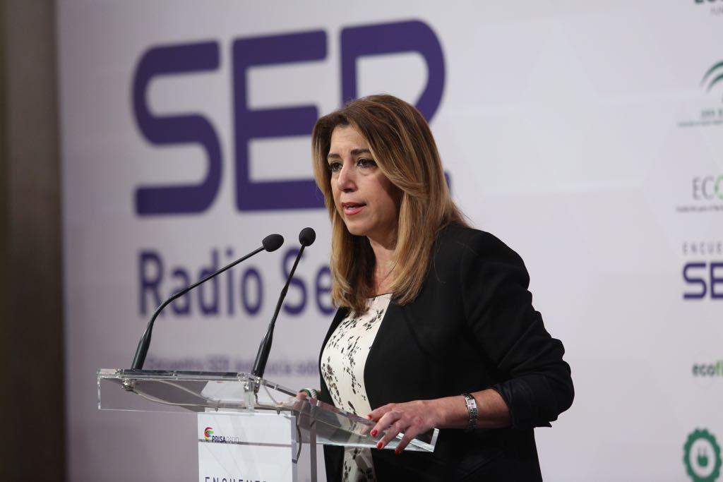 Susana Díaz, en el Encuentro sobre economía circular de la Cadena SER