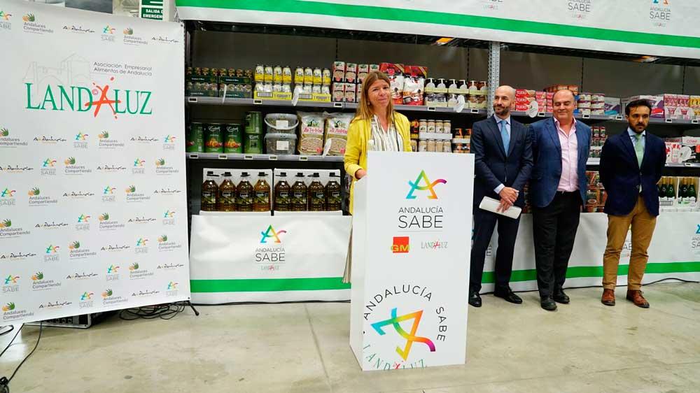 Los alimentos de Andaluces Compartiendo se comercializarán en más de 40 centros del Grupo Miquel