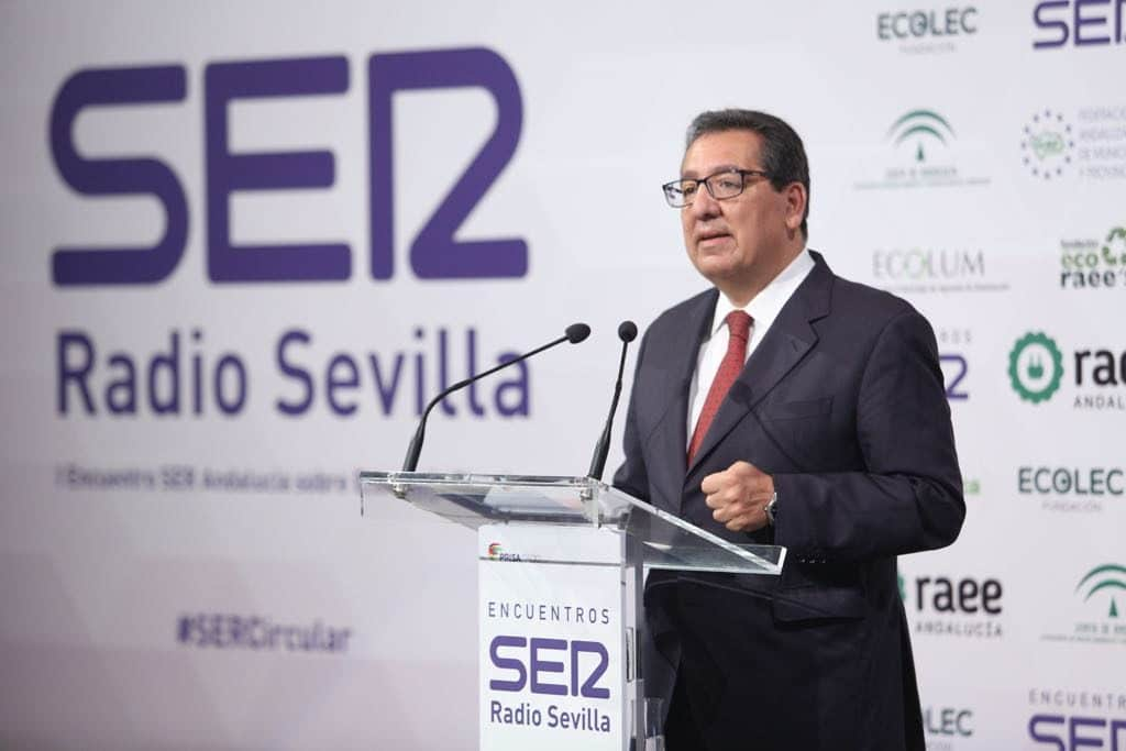 Antonio Pulido, en el Encuentro sobre economía circular de la Cadena SER