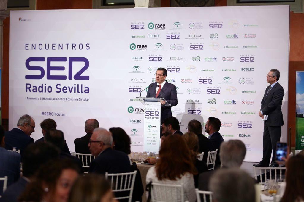 Antonio Pulido dio la bienvenida en el Encuentro sobre economía circular de la Cadena SER