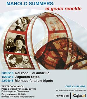 Cartel del ciclo de cine dedicado a Manolo Summers en la Fundación Cajasol