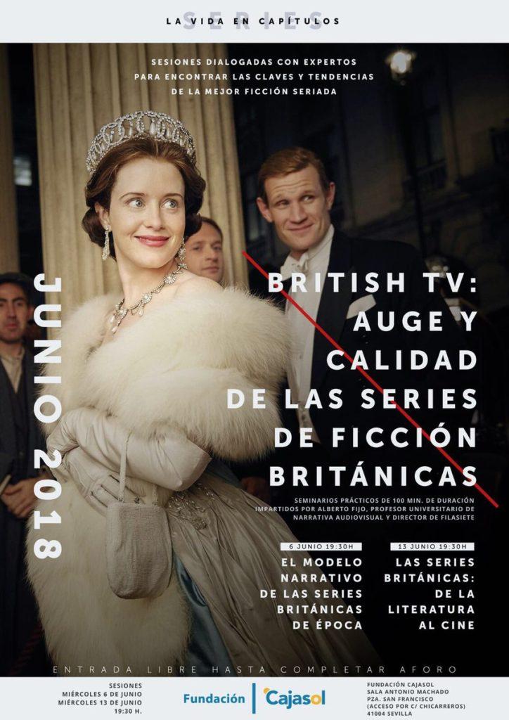 Cartel del ciclo sobre la 'British TV' en la Fundación Cajasol