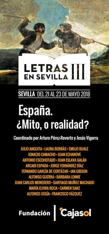 Cartel del III ciclo Letras en Sevilla 'España, ¿Mito, o realidad?'