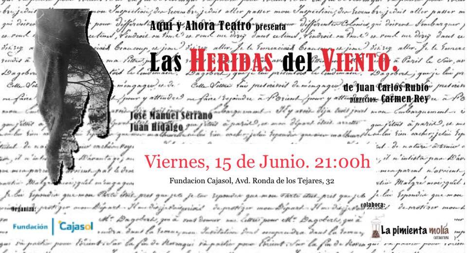 Cartel de la obra de teatro 'Las heridas del viento' en Córdoba