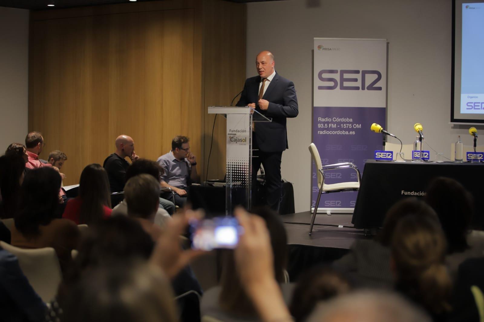 Antonio Ruiz, durante su intervención en los Encuentros de Radio Córdoba