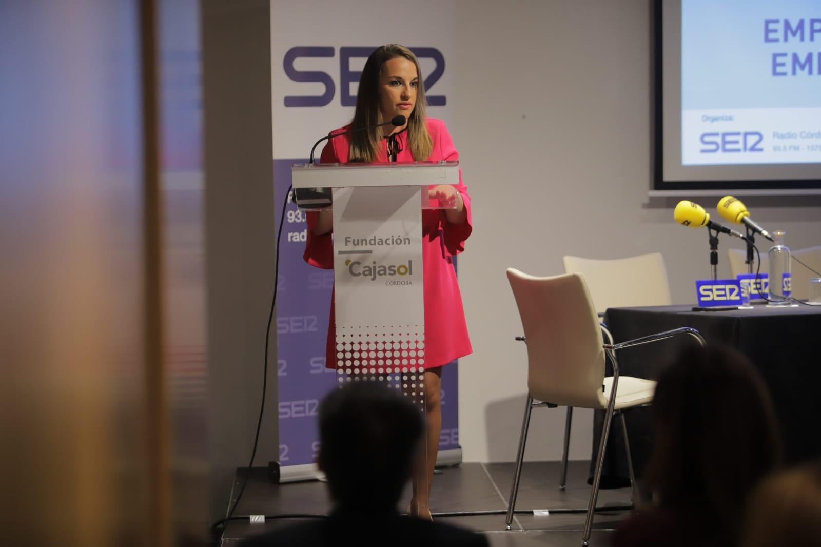 Esther Ruiz, durante su intervención en los Encuentros de Radio Córdoba