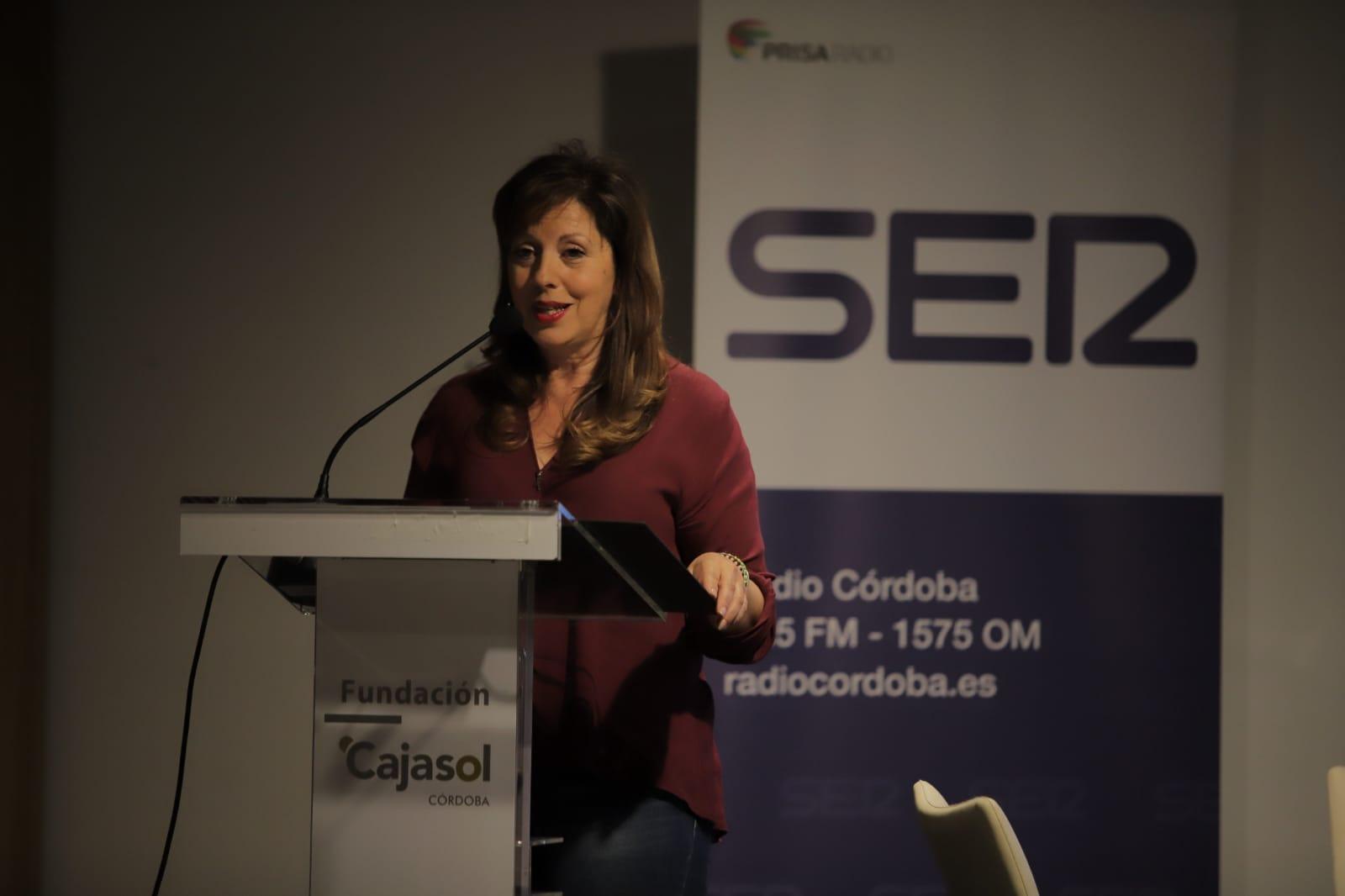 Mar Téllez, durante su intervención en los Encuentros de Radio Córdoba