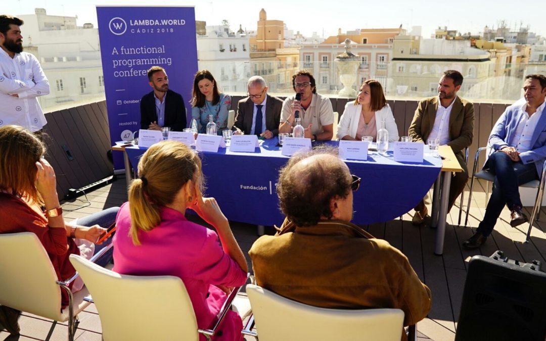 Presentación de Lambda World en Cádiz, que se celebrará los días 25 y 26 de octubre