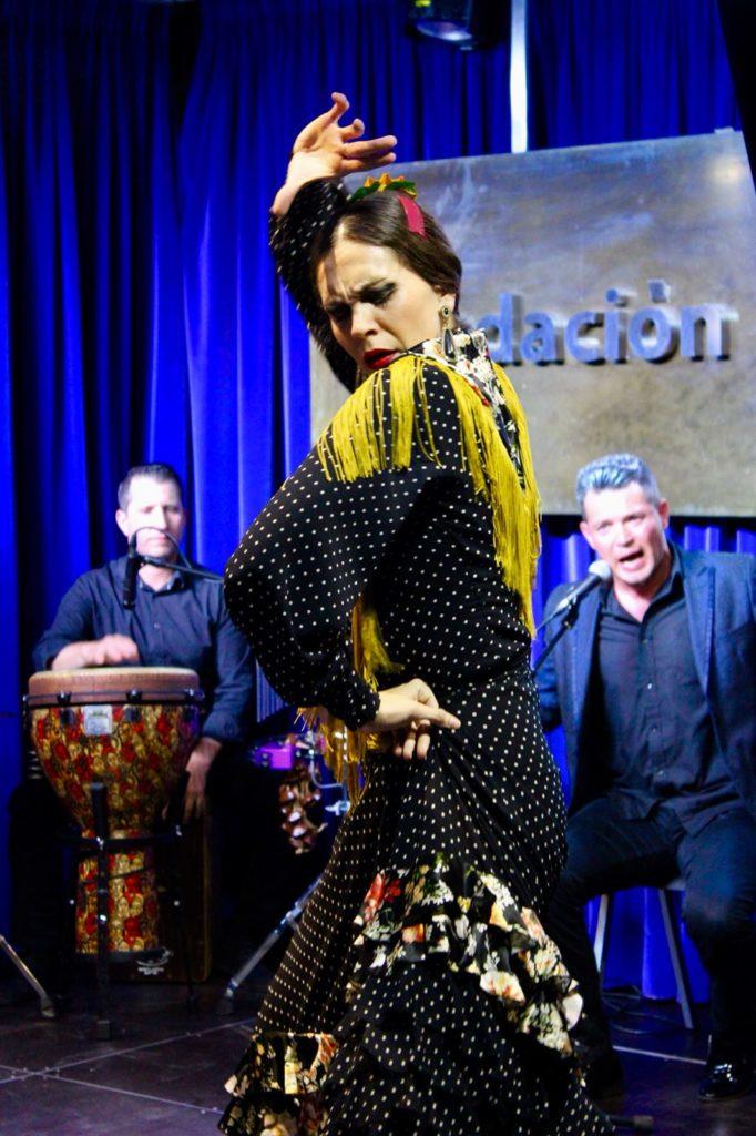 Cristina Ceballos, durante su actuación en Huelva