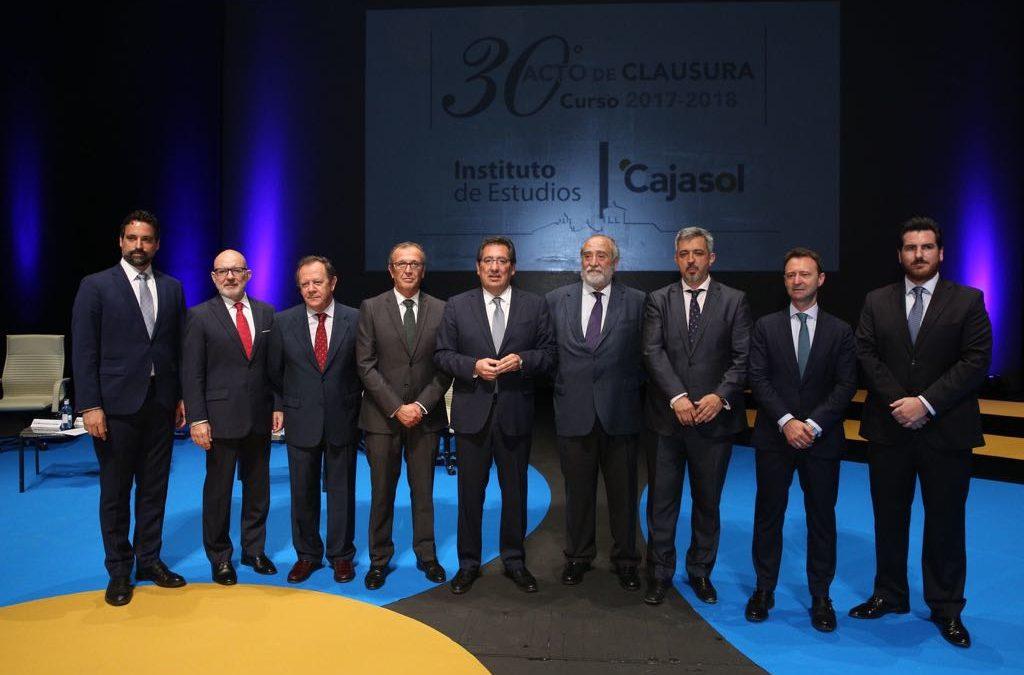 El Instituto de Estudios Cajasol celebra el Acto de Clausura del Curso Académico 2017/2018