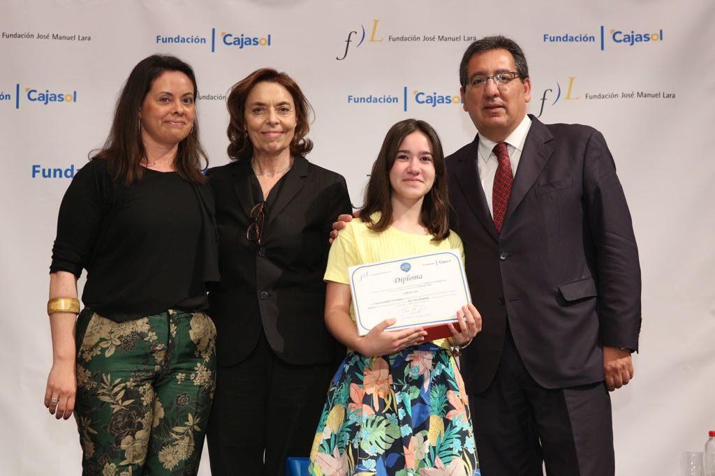 Laura González Domínguez, ganadora del V concurso 'Mi libro preferido' en la provincia de Málaga